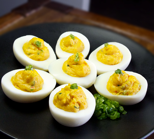 Spicy Wasabi Deviled Eggs | KeepRecipes: Your Universal Recipe Box