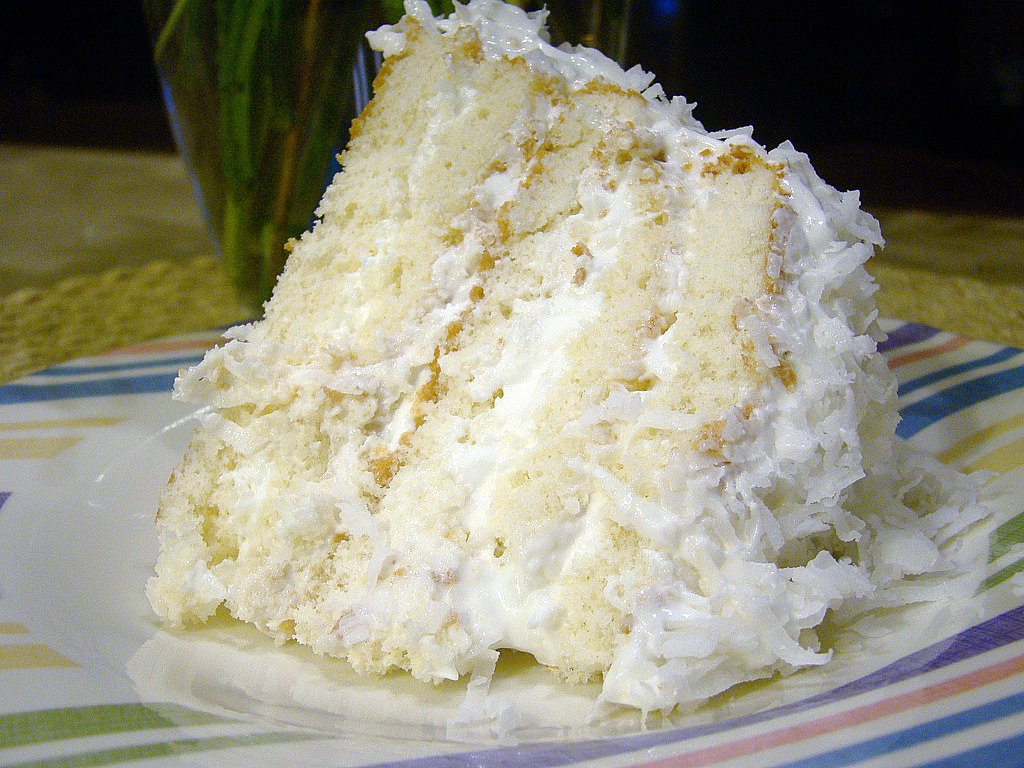 Coconut Cake With Cream Of Coconut And Cake Mix