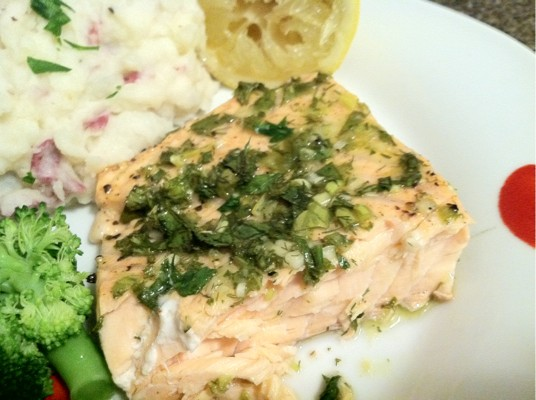 Roasted salmon with green herbs recipe ina garten - Ina garten baking recipes ...