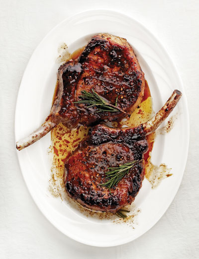 Sweet And Sour Glazed Pork Chops Maiale In Agrodolce