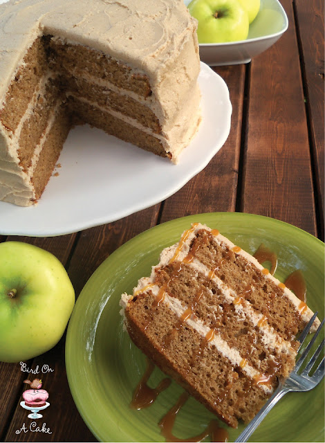 Apple Cider Spice Cake With Apple Butter Frosting