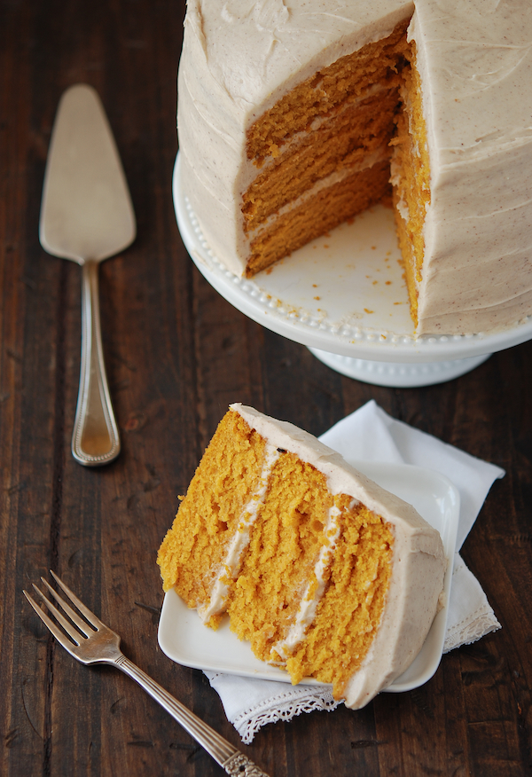 Maple Cream Cheese Frosting pumpkin dream cake with cinnamon maple cream cheese frosting