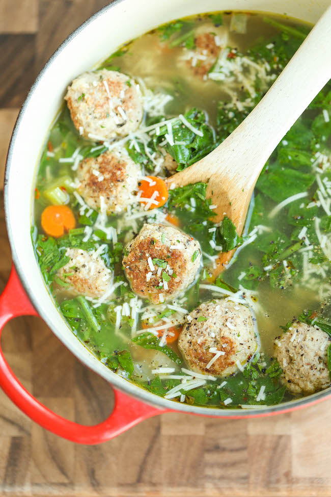 Turkey Meatball And Spinach Soup Keeprecipes Your Universal Recipe Box