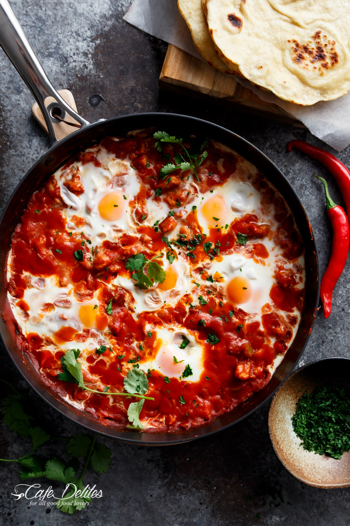 Eggs In Tomato Sauce with Sausage (Shakshuka