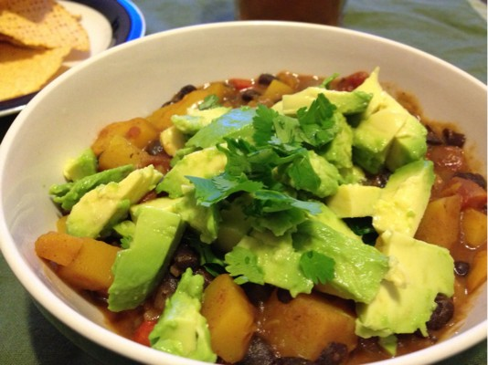 Butternut Squash Chipotle Chili with Avocado | KeepRecipes ...