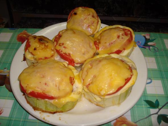 Кабачки колечки с фаршем в духовке рецепт с фото пошаговый