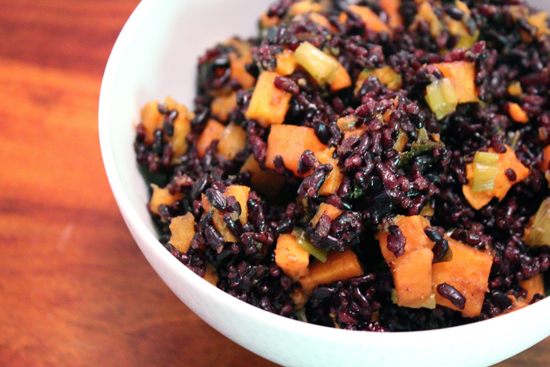 Black Rice With Scallions And Sweet Potatoes Keeprecipes