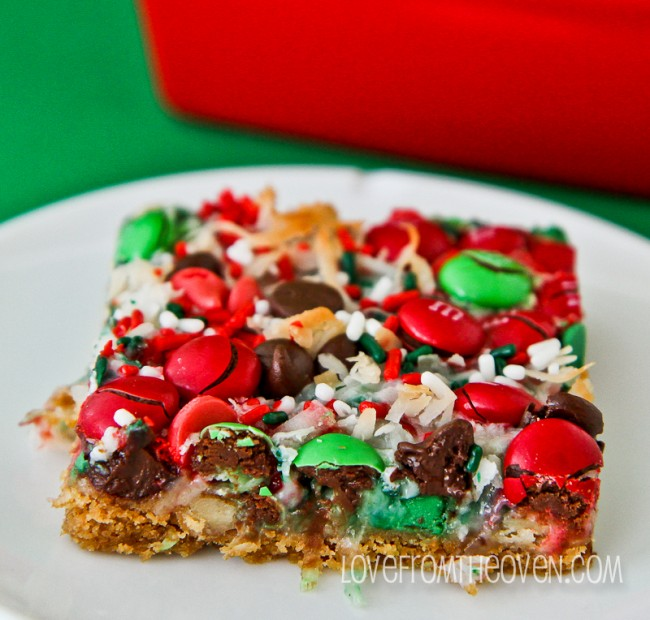 christmas magic cookie bars keeprecipes your universal recipe box - Christmas Bar Cookies