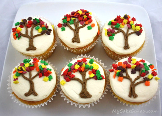 Autumn Tree Cupcakes Keeprecipes Your Universal Recipe Box