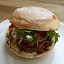 Banh Mi Burger From The Tasting Table Test Kitchen Keeprecipes