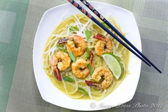 Coconut Laksa With Shrimp (Coconut-Curry Noodle Soup With Shrimp ...