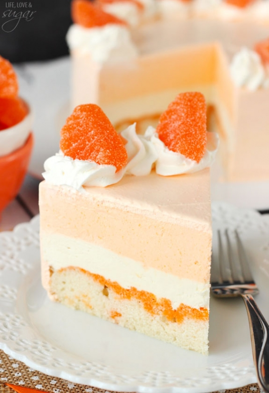 Jello Layer Cake With Sour Cream