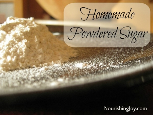 how to keep powdered sugar from dissolving