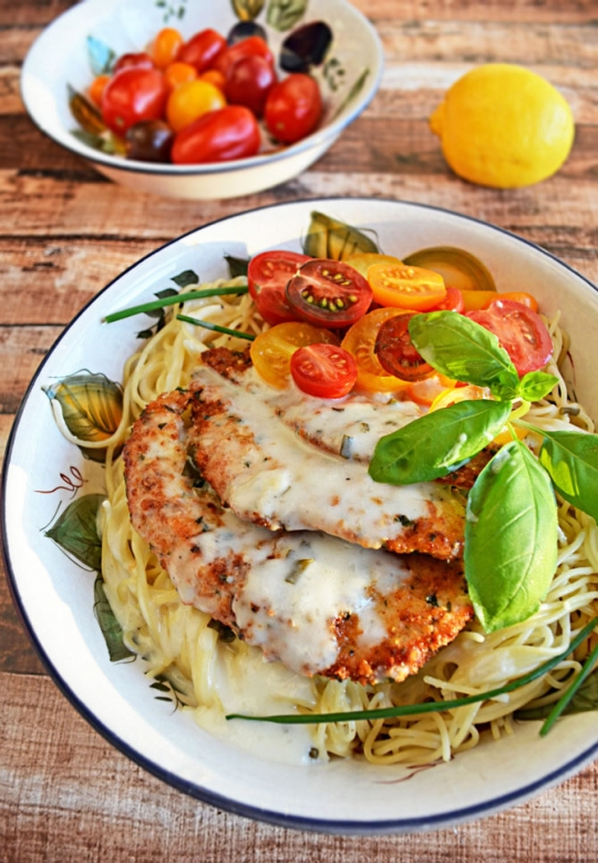 Parmesan Crusted Chicken parmesan crusted chicken with herb butter sauce | keeprecipes