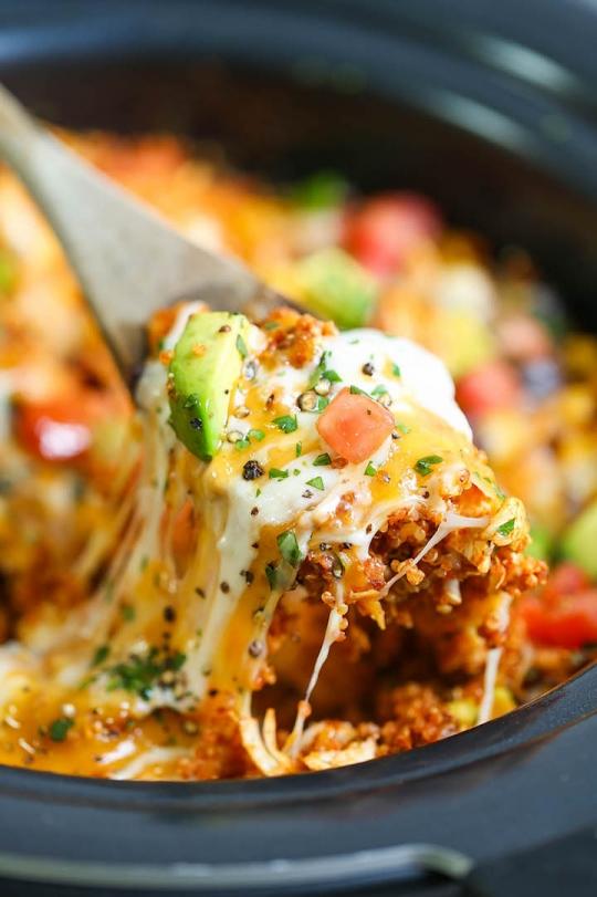 Slow Cooker Quinoa Enchilada Casserole Keeprecipes Your Universal Recipe Box