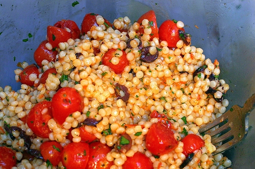 pearl couscous with olives and roasted tomatoes | KeepRecipes: Your ...