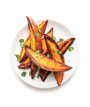 Crispy Roasted Sweet Potatoes With Lime and Cilantro | KeepRecipes ...