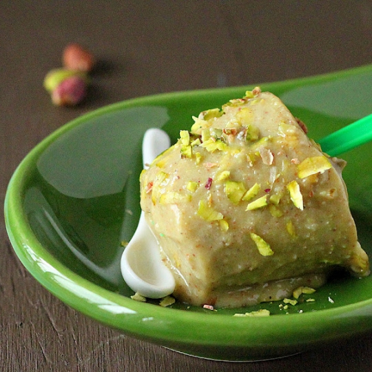 Pistachio Almond Cardamom Pepper Kulfi (Ice Cream) vegan glutenfree ...