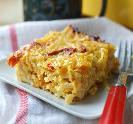 Cheesy Potato Breakfast Casserole With Cheddar Amp Sun Dried