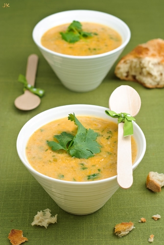 Pumpkin Sweet Potato Leek And Coconut Milk Soup