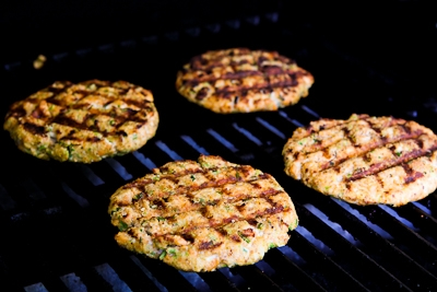 with grape and caper salsa salmon burgers with caper chop up the ...