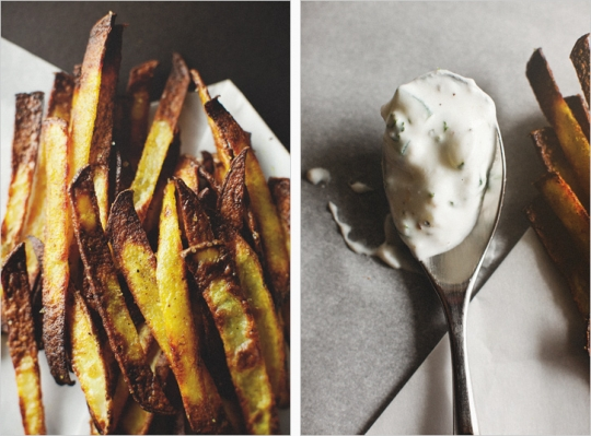 Curry Spiced Pomme Frites + Cucumber Dip Recipes — Dishmaps