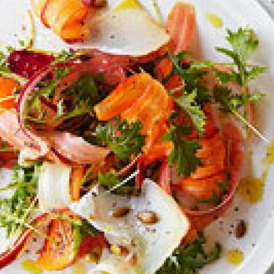 Rainbow Carrot & Mizuna Salad Recipe | KeepRecipes: Your Universal ...
