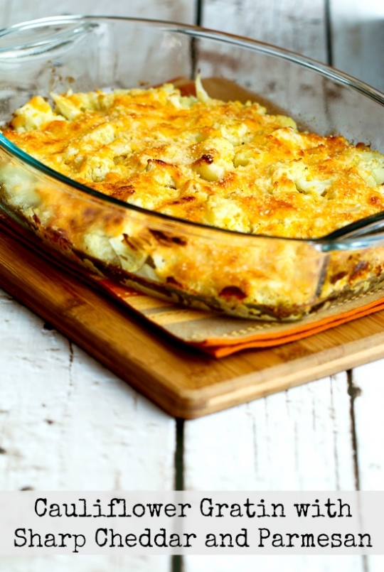 Cauliflower Gratin with Sharp Cheddar and Parmesan ...
