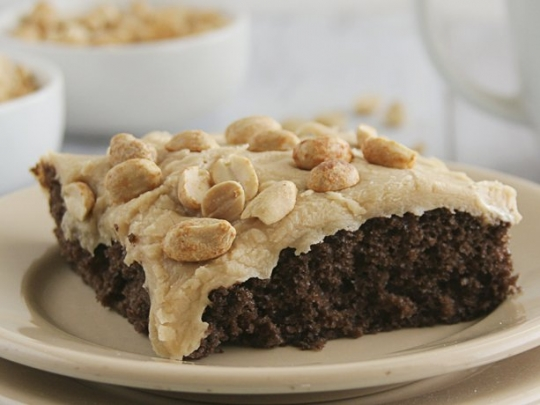 Chocolate Sheet Cake with Peanut Butter Icing ...