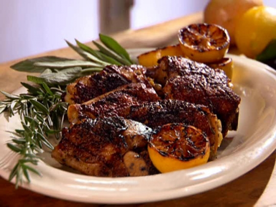 Lemon And Herb Marinated Grilled Chicken Thighs Anne Burrell