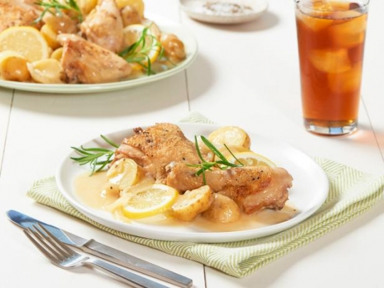 One pot lemon braised chicken with new potatoes recipe keeprecipes see original recipe at foodnetwork forumfinder Images
