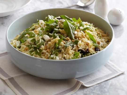 Tri Color Orzo Pasta Salad Keeprecipes Your Universal Recipe Box