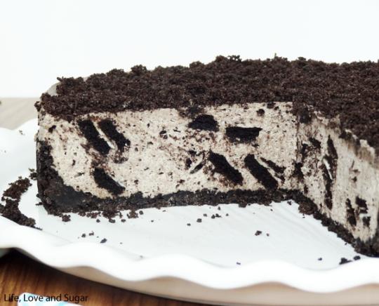 No bake oreo cheesecake box