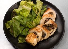 Mushroom-Stuffed Chicken with White Wine Sauce Recipe | KeepRecipes ...