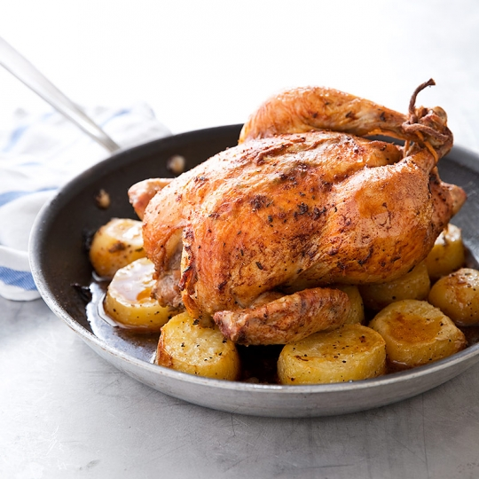 Skillet Chicken With Roasted Potatoes Carrots Recipe: One-Pan Roast Chicken And Potatoes Recipe