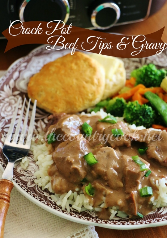 Crock Pot Beef Tips and Gravy | KeepRecipes: Your