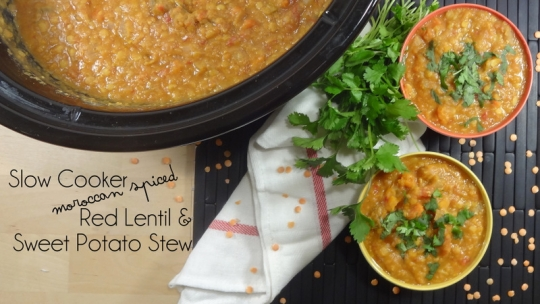 Colleen's Kitchen Slow Cooker Moroccan Spiced Red Lentil ...