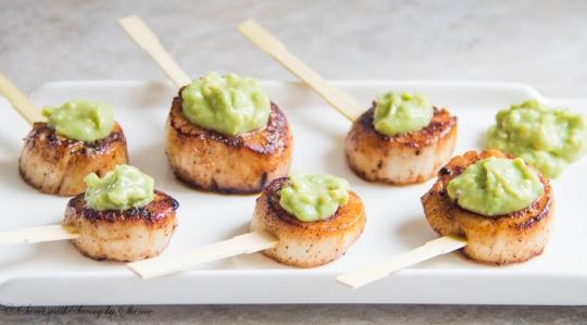 Seared Scallops With Honey Dijon Avocado Sauce Keeprecipes Your Universal Recipe Box