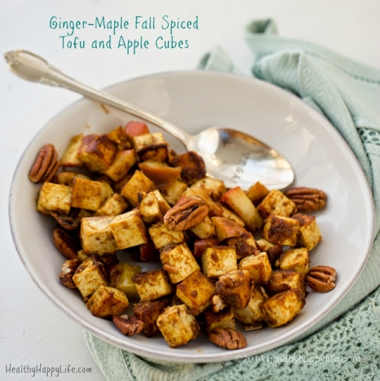 Ginger-Maple Fall Spiced Tofu and Apple Cubes | KeepRecipes: Your ...
