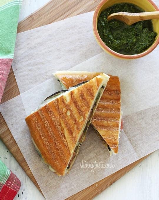 Eggplant Panini with Pesto | KeepRecipes: Your Universal Recipe Box