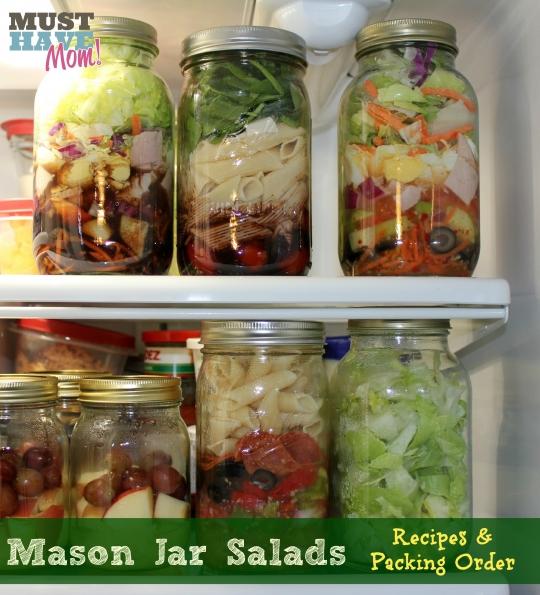Mason Jar Chef Salad Recipe | KeepRecipes: Your Universal Recipe Box