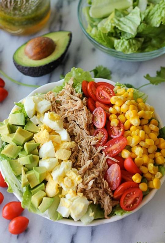 Pulled Pork Cobb Salad Recipe Keeprecipes Your Universal Recipe Box