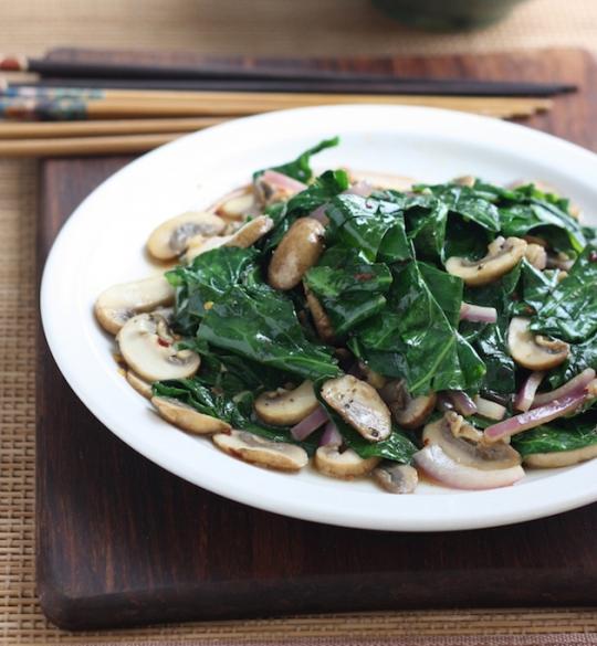 Stir-Fried Collard Greens with Mushrooms | KeepRecipes ...