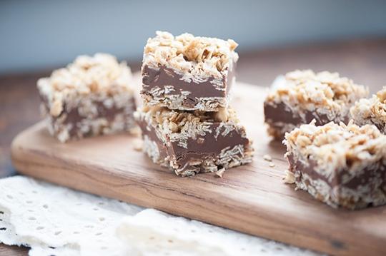 No Bake Chocolate Peanut Butter Oatmeal Bars | KeepRecipes: Your ...