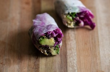 Sesame Crusted Avocado and Cabbage Spring Rolls | KeepRecipes: Your ...
