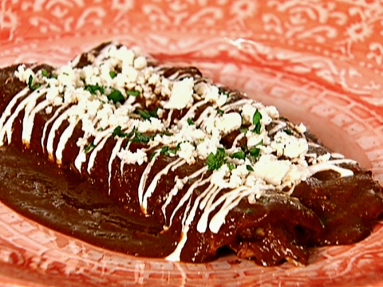 Easiest Chicken Mole Enchiladas Keeprecipes Your Universal Recipe Box