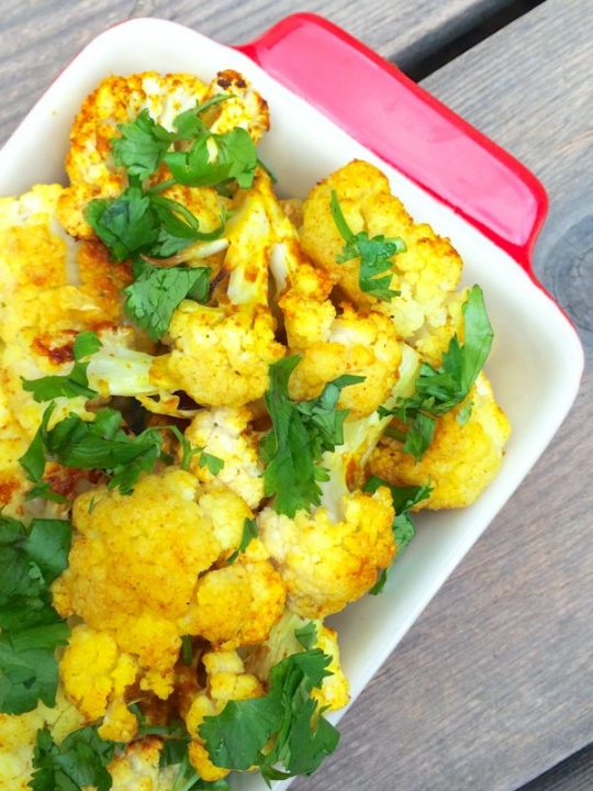 Curried Roasted Cauliflower with Coconut Oil Recipe | KeepRecipes ...