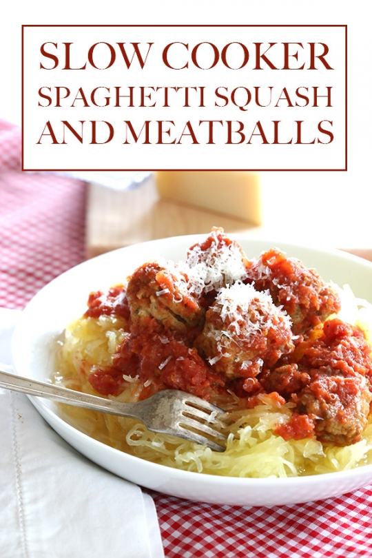 Low Carb Slow Cooker Spaghetti Squash and Meatballs | KeepRecipes ...