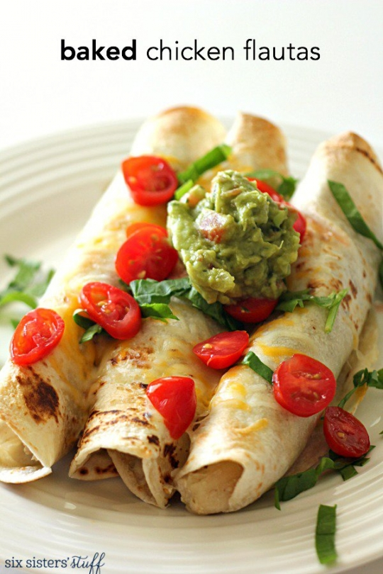 Baked Chicken Flautas | KeepRecipes: Your Universal Recipe Box