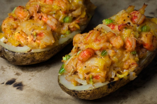Cajun Shrimp Stuffed Baked Potato Keeprecipes Your Universal Recipe Box